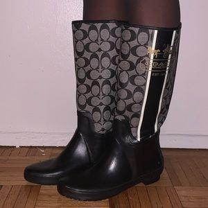 Coach Monogram Rain Boots